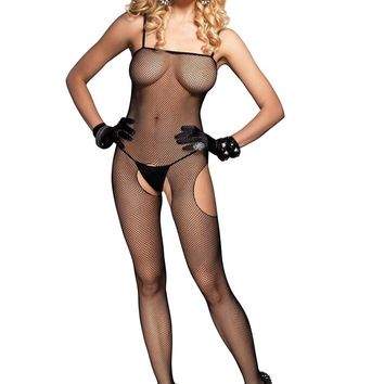 Leg Avenue Female Fishnet Suspender Bodystocking 8672