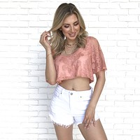 Georgia Peach Crop Top