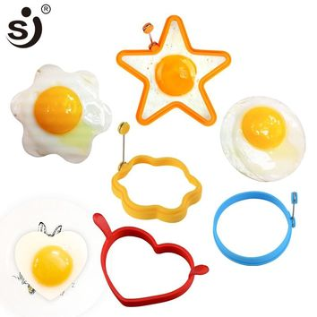 1PC Silicone Egg Ring Breakfast Silicone Egg Molds Pancake Egg Moulds Cooking Tools Frying Egg Moulds Kitchen Gadgets