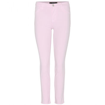 Pink Cropped Jeans (J Brand)