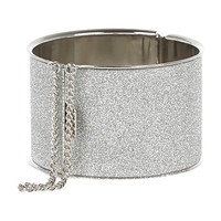 River Island Womens Silver tone glitter chain detail bangle