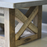 Concrete Coffee Table Reclaimed Wood Base