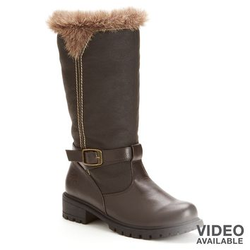 Totes Brown Haley Winter Riding Boots - Women