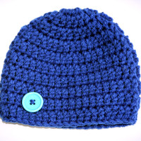 Royal baby hat blue newborn photo prop boy beanie 0 - 3 months Ready to ship
