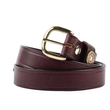 Cannon's Point Single Shotgun Shell Belt in Brown Leather by Over Under Clothing