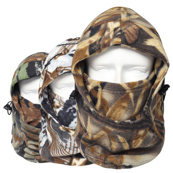 Winter Thermal Camo Camouflage SWAT Fleece Warm Neck Mask Balaclava Motorcycle Hunting Wind Ski cap Hats Snowboard Full Mask