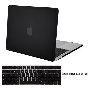 Mosiso Black Hard Shell Case Cover for Macbook Pro 13 Pro 15 2016 touch bar + Silicone Keyboard Skin cover A1706/A1708/A1707
