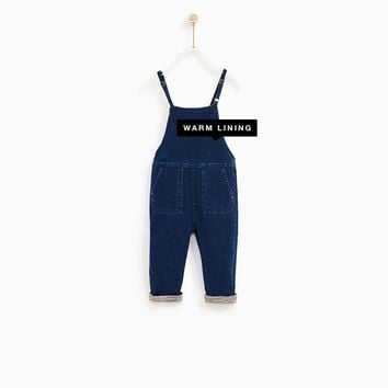 LINED DENIM JUMPSUIT