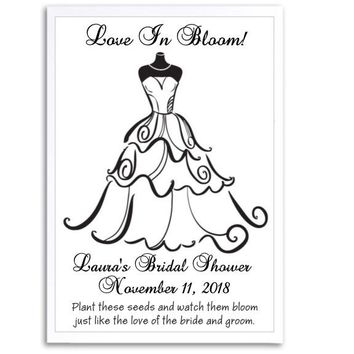 8 Black and White Bridal Shower Seed Favors