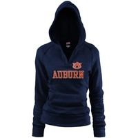 Auburn Tigers Ladies Navy Blue Rugby Vintage Hoodie Sweatshirt