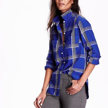 Old Navy Womens Plaid Shirt