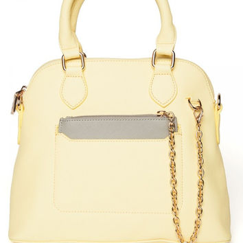 Lady on the Go Handbag in Pastel Yellow
