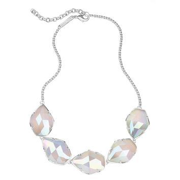 Kendra Scott Connely Silver Necklace in Iridescent Slate