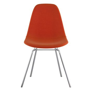 Mid Century Classroom Side Chair  Lava Red