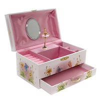 Child Related FAIRY JEWELRY BOX Paper Musical Storage Sunflower 28032
