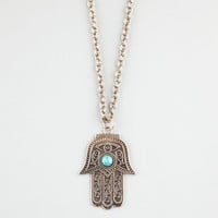 Full Tilt Hamsa Hand Necklace Gold One Size For Women 23404262101