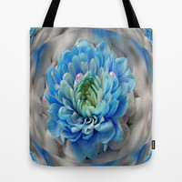 3d blue flower Tote Bag by Store2u