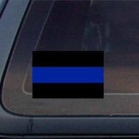 Thin Blue Line Police Sheriff Car Decal / Sticker - Blue & Black