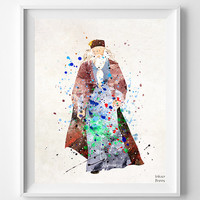 Harry Potter Print, Art Print, Dumbledore, Watercolor Art, Nursery Art, Baby Room, Wizard, Illustration, Painting, Wall Art Prints