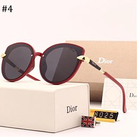 DIOR 2018 new polarized sunglasses retro large frame polarized color film sunglasses #4