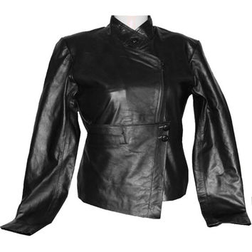 Handmade women Black Leather Jacket, with new design, women black biker Leather Jacket, womens leather jackets