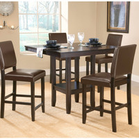 101983 Arcadia 5-Piece Counter Height Dining Set with Parson Stool - Free Shipping!