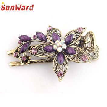 SunWard Good Deal Fashion Women Vintage Headbands Flowers Crystal Hair Clips Hairpins For Hair Clip Tools 1PC