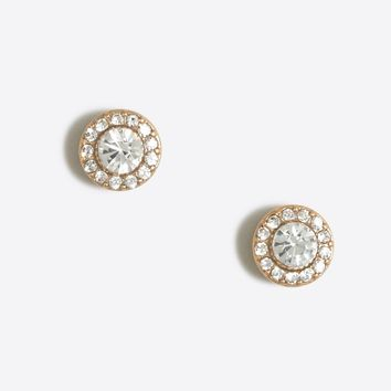 Glimmer circle stud earrings