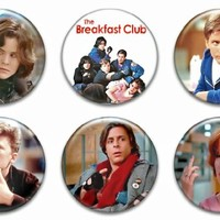 "Set of 6 New The Breakfast Club 1.25"" Pinback Button Badge Pin"