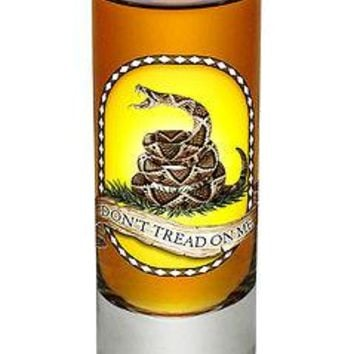 """""""DON'T TREAD ON ME"""" WITH SNAKE- NEW-  2 OZ. SHOT GLASS"""