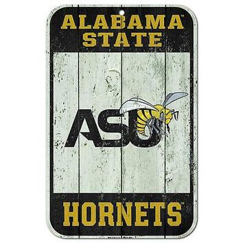 """Licensed Alabama State Hornets NCAA 11"""" x 17"""" Fence Plastic Wall Sign 11x17 Wincraft KO_19_1"""