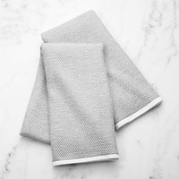 Grey Textured Terry Dish Towel, Set of 2