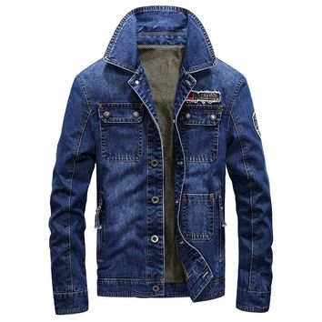Trendy Men Denim Jackets Men Coat Long Section Fashion Trench Coat  Masculina  Homme  Brand Casual Fit Overcoat Jacket Outerwear AT_94_13