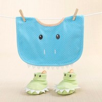 Chomp & Stomp - Dinosaur Bib and Booties Gift Set