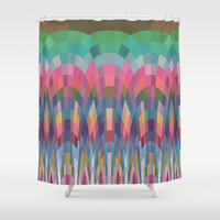 Rainbow Forest Shower Curtain by ArtLovePassion
