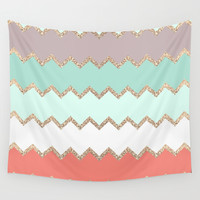 AVALON CORAL Wall Tapestry by Monika Strigel