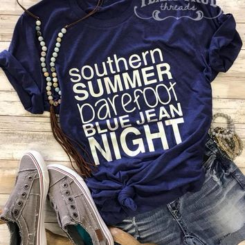 Barefoot Blue Jean Night Graphic Tee (S-2XL)