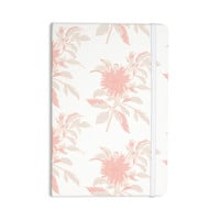 "Gukuuki ""Pastel Fluers"" Pink White Everything Notebook"