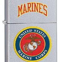US USMC Marines Style1 Zippo Outdoor Indoor Windproof Lighter Free Custom Personalized Engraved Message Permanent Lifetime Engraving on Backside