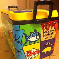 Custom 48 QT Hand Painted Cooler