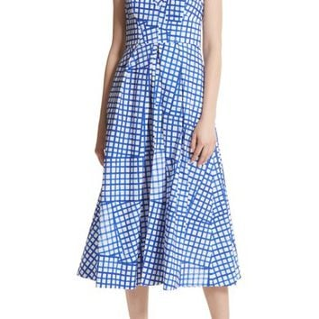 Milly Paige Stretch Cotton Halter Dress   Nordstrom