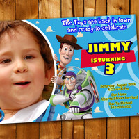 Toy Story, Birthday Invitation, Birthday Party for little boy and little girl