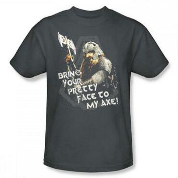 The Lord of the Rings Gimli with Axe Adult Charcoal Gray T-Shirt | WBshop.com