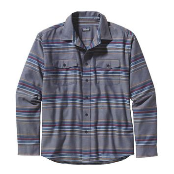 Patagonia Men's Long-Sleeved Buckshot Shirt | Gaucho Stripe: Feather Grey