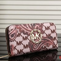 MK 2017 Pure elegant leather printing wallet purse bag [52933459980]