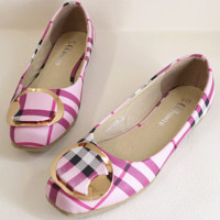 New flattened beef bottom shoes Pink