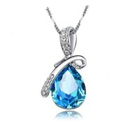 Angel Tears Clavicle Necklace with SWAROVSKI elements
