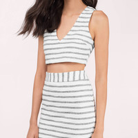 Venice Striped Bodycon Set