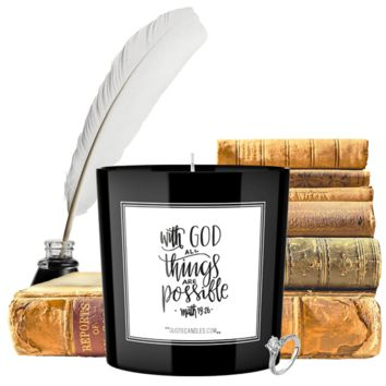 With God All Things Are Possible   Quote Candles®