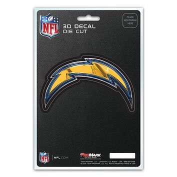 Los Angeles Chargers Decal 5x8 Die Cut 3D Logo Design